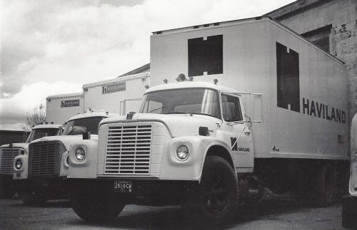 Old trucks used for distribution