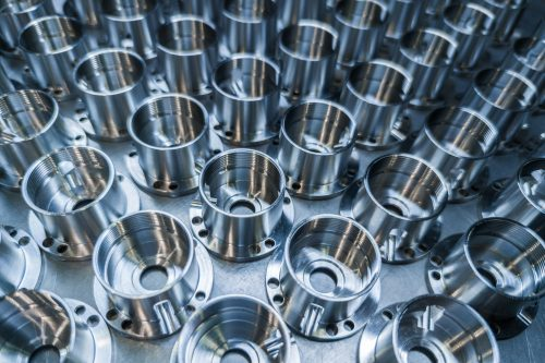 Aluminum finishing on metal parts