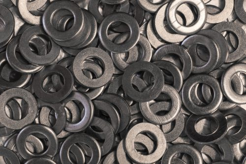Zinc surface finishing on metal washers