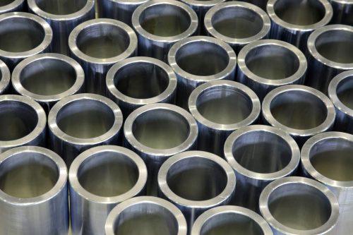 Chrome finishing on metal tubes