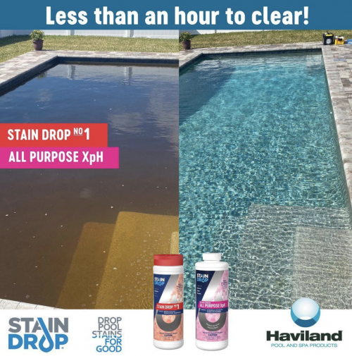 Drop pool stains for good! Before and after using Stain Drop. 💧#havilandpoolandspa #staindrop 19w